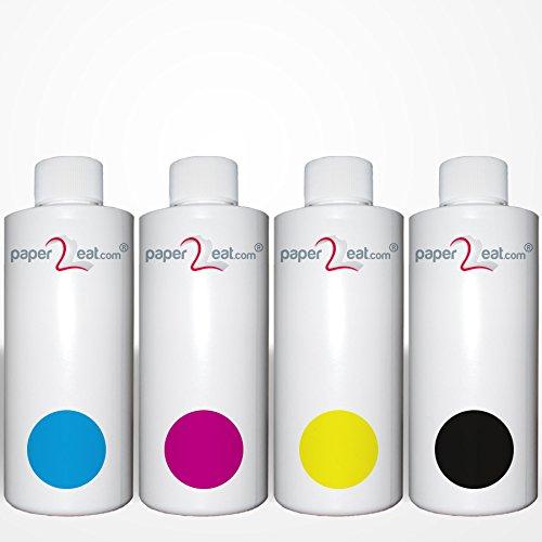 paper2eat Multipack de 4 x botellas de recambio de tinta ...