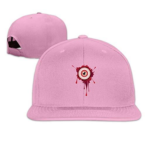 ONE-HEART HR Baseball Cap Halloween Bloody Eyeball Adjustable Custom Flat Peaked Hat Unisex]()