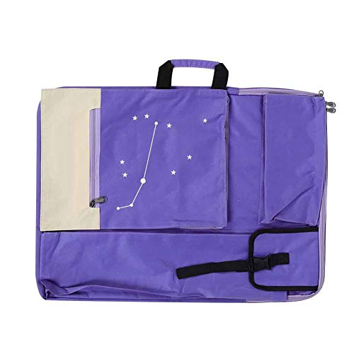 HEEPDD Artist Portfolio Carry Backpack Blue Constellation Pattern Multiply Function Canvas Water-Resistant Artist Portfolio Tote Backpack for Drawing Sketching Painting