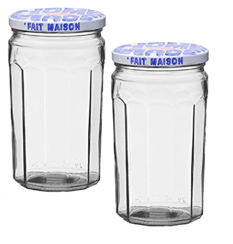 Le Parfait Glass Jam Jar Fait Maison For Homemade Jam or Decoration , 645 ml (Pack of 2)