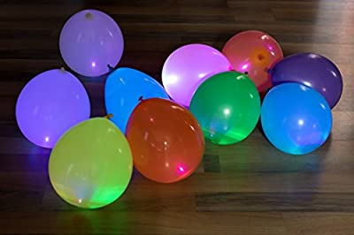 LED Light up Balloons 15 Mixed color Party Pack by ALCHEMY PARTY from ALCHEMY PARTY