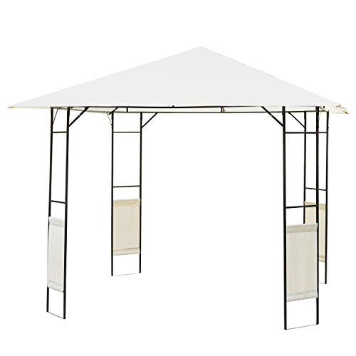 Outsunny Modern Outdoor Canopy Cover Gazebo, 10-Feet x 10-Feet, Cream