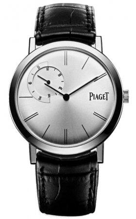 Piaget Piaget Altiplano Plata Dial Negro Cuero Automático Mens Reloj: goldia: Amazon.es: Relojes
