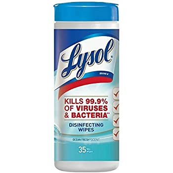 Lysol Disinfecting Wipes, Ocean Fresh, 35 Count