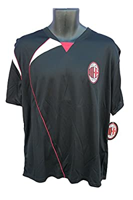 AC Milan Soccer Officially Licensed Adult Soccer Training Performance Poly Jersey 003R Rhinox