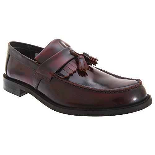 Roamer Mens Toggle Saddle Hi-Shine Leather Loafers Oxblood 6IUpx8Sf