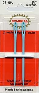 "Colonial Needle 2 Count Plastic Needles, 2-3/4"""