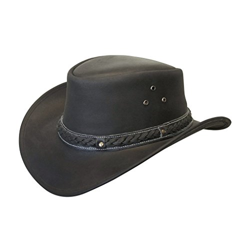 Down Under Leather Hat Black - Cambridge Center Shopping