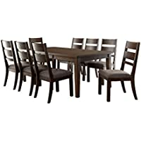 HOMES: Inside + Out Dalia Expandable 9 Piece Dining Set, Espresso