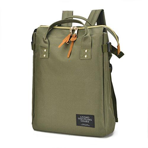 St.Roma - Bolso mochila  de Lona para mujer Talla única Ejercito Verde