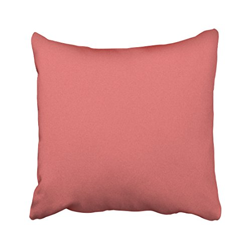 Shorping Zippered Pillow Covers Pillowcases 16X16 inch Coral Solid Dark Coral Color Background Wallpaper textur Decorative Throw Pillow Cover,Pillow Cases Cushion Cover Home Sofa Bedding - Textures Modern Sofa