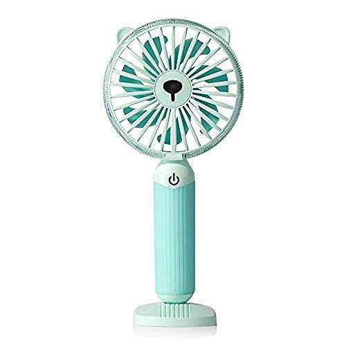 XIOAHU GE Portable Fan Rechargeable Handheld USB Mini Fan - Night Light Electric Mini Portable Outdoor Fan for Home and Travel
