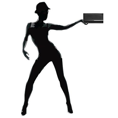 Metal TA393 with Envelope Ladies Bag Decor Black Elegant Evening Clutch Long CASPAR FzUBd8qwU