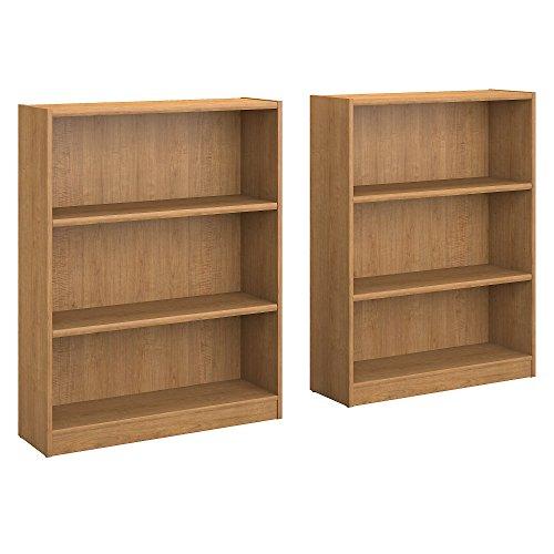 Universal 3 Shelf Bookcase Set of 2 in Royal Oak