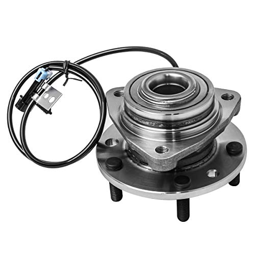 Front Wheel Hub and Bearing Assembly Left or Right Compatible Chevrolet S10 Blazer GMC Jimmy Sonoma Isuzu Hombre Oldsmobile Bravada AUQDD 513124 [ 5 Lug W/ABS 4WD AWD ] ()