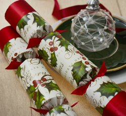 robin reed 6 x 12 english christmas crackers from holly berry