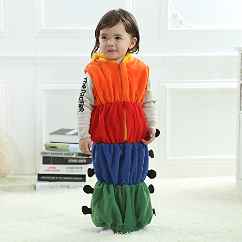 Baby Kids Cute Caterpillar Sleeping Bag Romper Sleepwear Swaddle Wrap Sack -