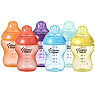 Tommee Tippee Closer to Nature Fiesta Fun Time Baby Feeding Bottles - 9 ounces, multi-colored, 6 pack