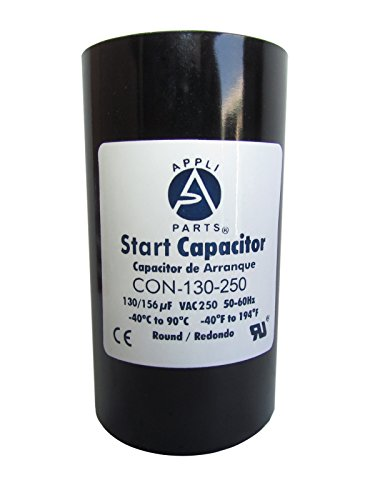 Start Capacitor 130-156 MFD uF 250V Round Can CD60. UL Certified