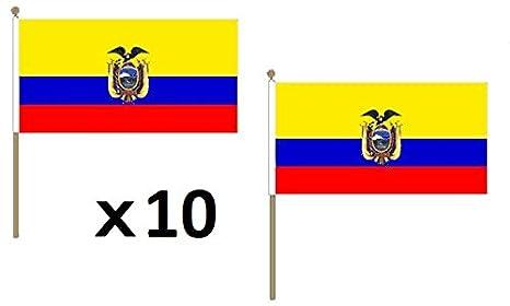AZ FLAG Bandera de Ecuador 45x30cm con Palo de Madera - Lote ...
