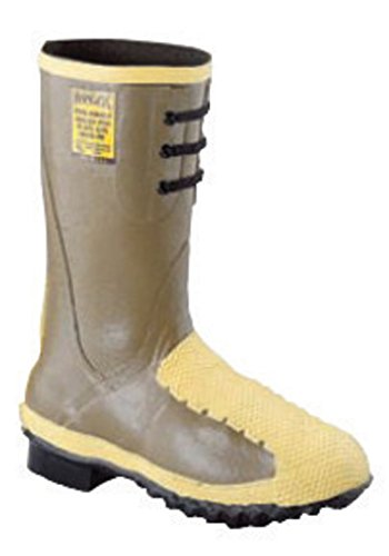 Honeywell 2149-8 Servus by Size 8 Ranger Flex-Guard Olive 12 Rubber Flexible Metatarsal Guard Lace Up Boots with Trac Tread Outsole, Steel Toe and Removable Insole, Plastic, 1