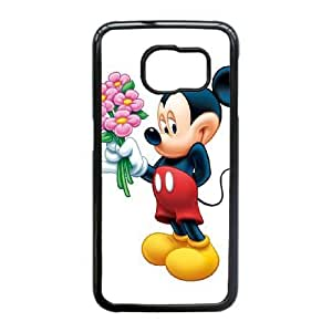 Plastic Durable Cover Samsung Galaxy S6 Edge Cell Phone Case Black Clisy Mickey Mouse Durable Phone Case