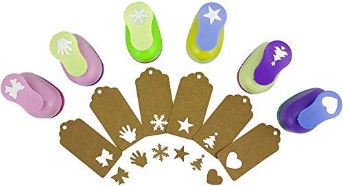 BeGrit Paper Punches Set Pugni Artigianato Decorativo frese per Biglietti creazione Scrapbook DIY Christmas Festival Fiore di ciliegio