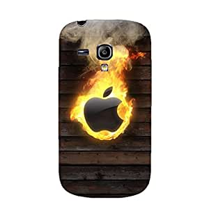 3D Apple Logo Phone Case Burning Apple Protective Cover Case for Samsung Galaxy S3 Mini Luxury Logo