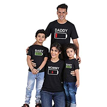 94423082cc Image Unavailable. Family Matching Outfits Father Mother Daughter Son  Clothes Look Tshirt Daddy Mommy and me Dress mom