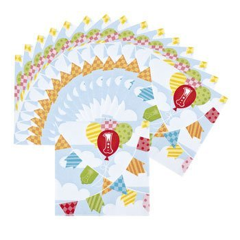 1st Birthday Circus Beverage Napkins - Party Tableware & Napkins by Oriental Trading Company for $<!--$2.24-->