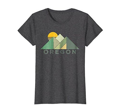 Womens Retro Vintage Oregon Tee Shirt XL Dark Heather