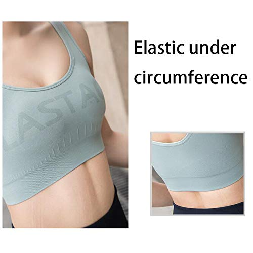 Padded High Impact,Comfy Yoga Workout Bra,Ultra Soft Athletic Tops Light /& Breathable Stretch Fabric ZMJY Womens Sports Bra