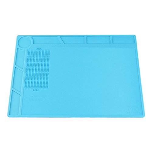 (XOOL Heat Insulation Silicone Repair Mat with Scale Ruler and Screw Position for Soldering Iron, Phone and Computer Repair, Gift for Techie)