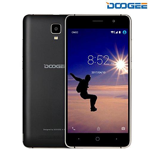 Unlocked Cell Phones, DOOGEE X10 Smartphone Unlocked Android 6.0 – 5.0'' IPS Display – 3360mAh Battery – 8GB ROM – 5MP Camera – 3G Unlocked Phones – Black