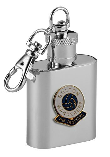 Football Clubキーリングflasks-bolton Wanderers ' The Trotters ' Football Club 1ozキーリングヒップフラスコ   B001U1G91C