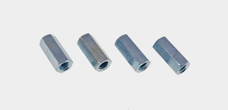 """10 Pack 1//4-20 1 3//4/"""" Long Threaded Zinc Coupler 1//4/"""" x 20"""