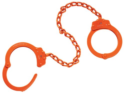 Peerless Handcuff Company, Leg Iron, Model 703O, Leg Iron - Orange Finish