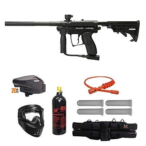MAddog Spyder MR100 Pro Gold Paintball Gun Package - Black ()