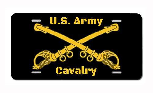 Carpe Diem Designs Military Service Insignia (Cavalry) Novelty License Plate, Made in The U.S.A.