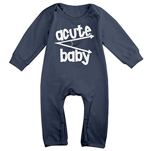 Baby Infant Romper Acute Baby Long Sleeve Jumpsuit Costume Navy 24 Months