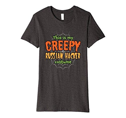 Womens Creepy Russian Hacker Costume Premium Halloween T-Shirt Medium Dark Heather