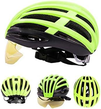 WNLBLB Gafas de Casco de Bicicleta Ultraligero integradas Gafas ...