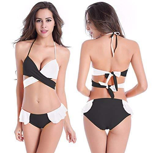 Si Bikini Da Stile X In Costume Riuniscono colore Bagno Cinturini large Dimensione Nero Nero Femminile E Bianco Zhrui nq8IRxtWw