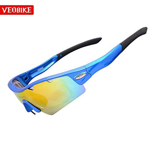 de Sport sunglasses Lunettes pour lentille équitation blue Lunettes extérieure Soleil Homme nbsp;5pcs Lunettes Sport Protection de vélo de Mjia REwdzqz
