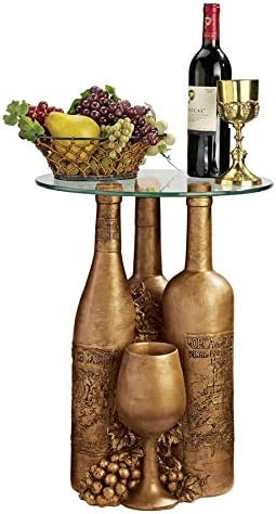 Design Toscano Wine and Dine Sculptural End Table