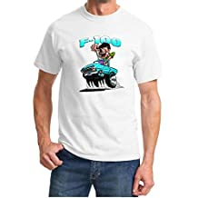 1967-72 Ford F100 F-100 Mad Monster Turquoise Truck Design Tshirt