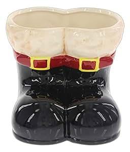 De Papá Noel de cerámica Napco botas macetas