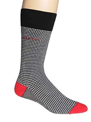 Calvin Klein Men's Elroy Houndstooth Dress Crew Socks