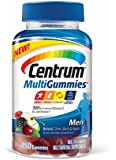 Centrum Men MultiGummies Multivitamin / Multimineral Supplement Gummies, Vitamin D3 (Natural Cherry, Berry and Apple Flavor, 150 Count)