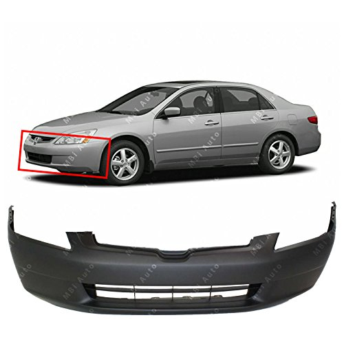 Honda Accord Sedan Bumper Cover - MBI AUTO - Primered, Front Bumper Cover Fascia for 2003 2004 2005 Honda Accord Sedan 03 04 05, HO1000210